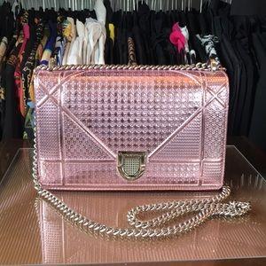 ** Pink Metallic Diorama Style Purse **